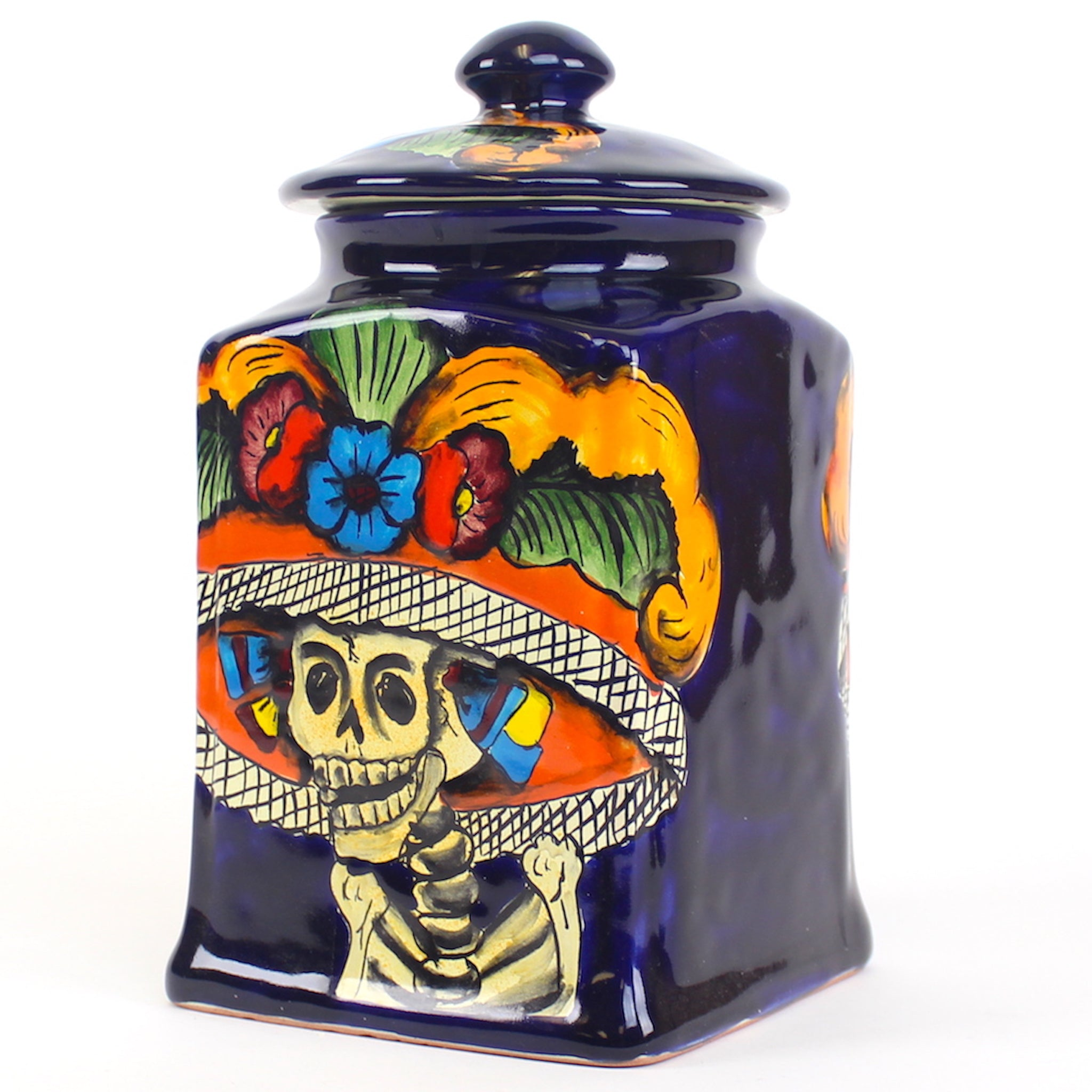 Vintage Catrina Kitchen Canister Large
