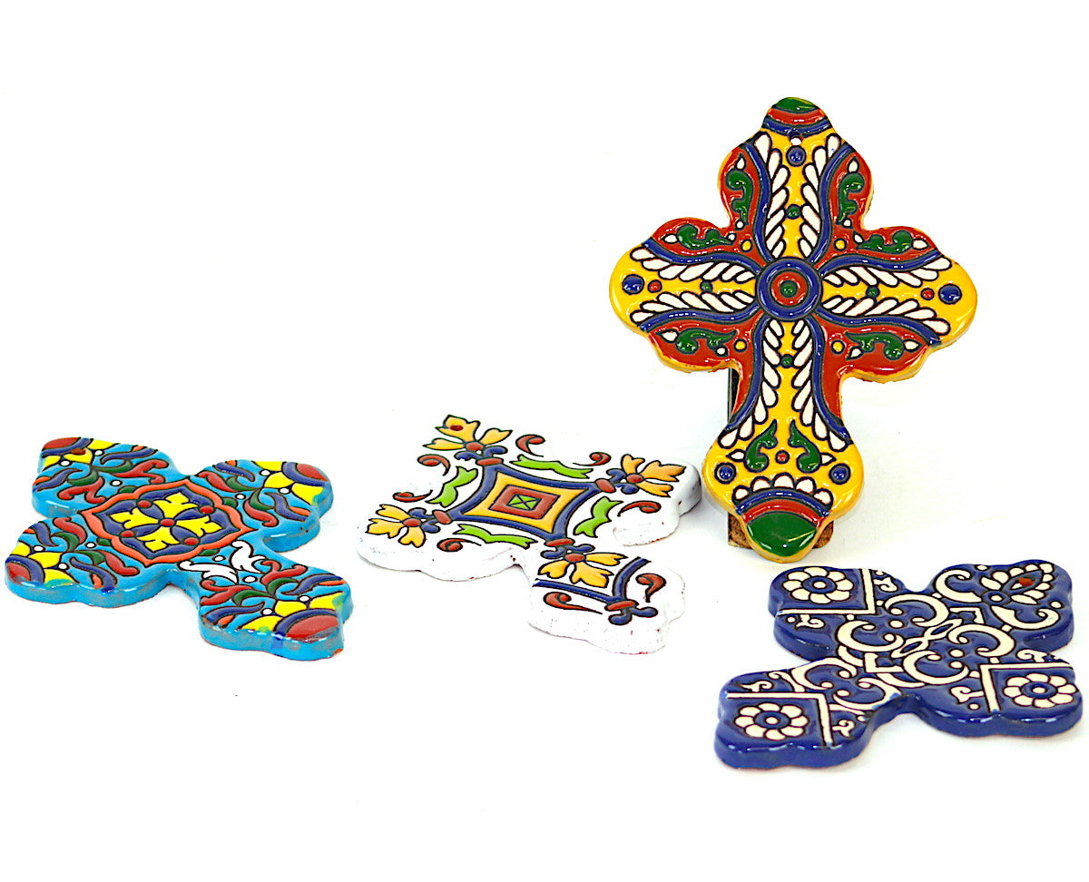 Hand Painted Ceramic Cross | Nirvana