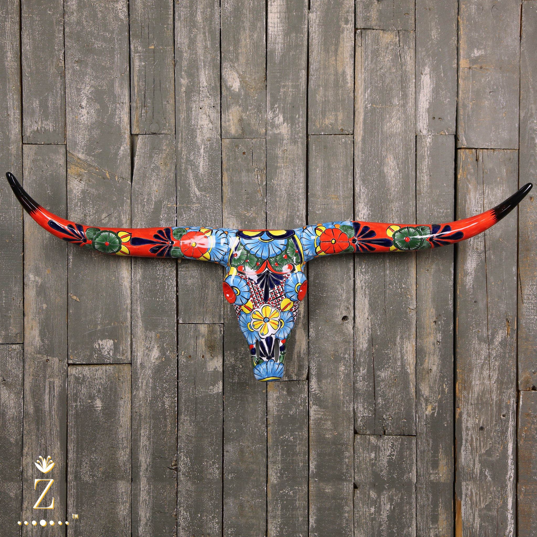 Longhorn Sculpture | Talavera Red Large