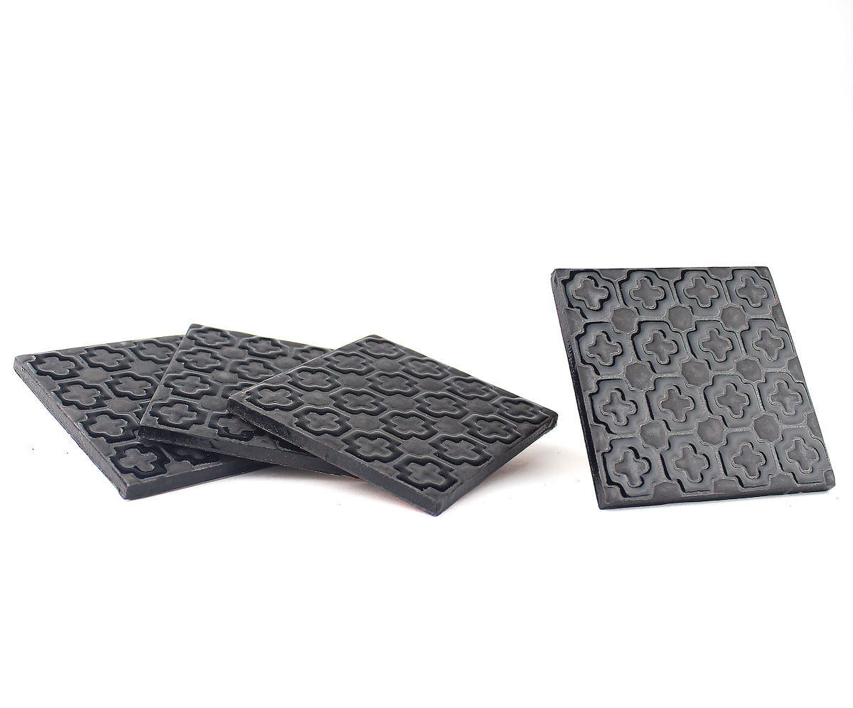 Ceramic Coaster set | Noir