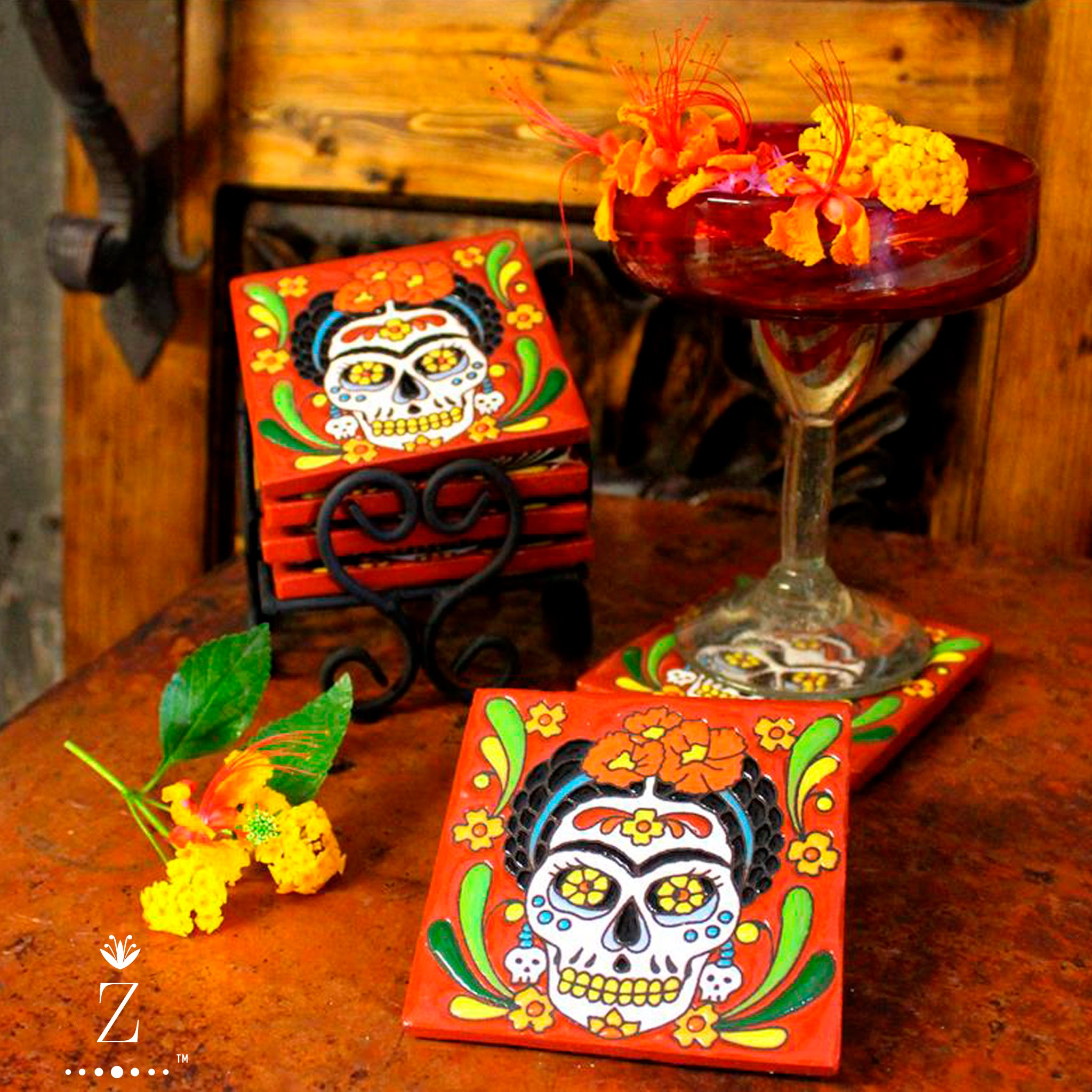 Ceramic Coaster set | Frida Catrina.