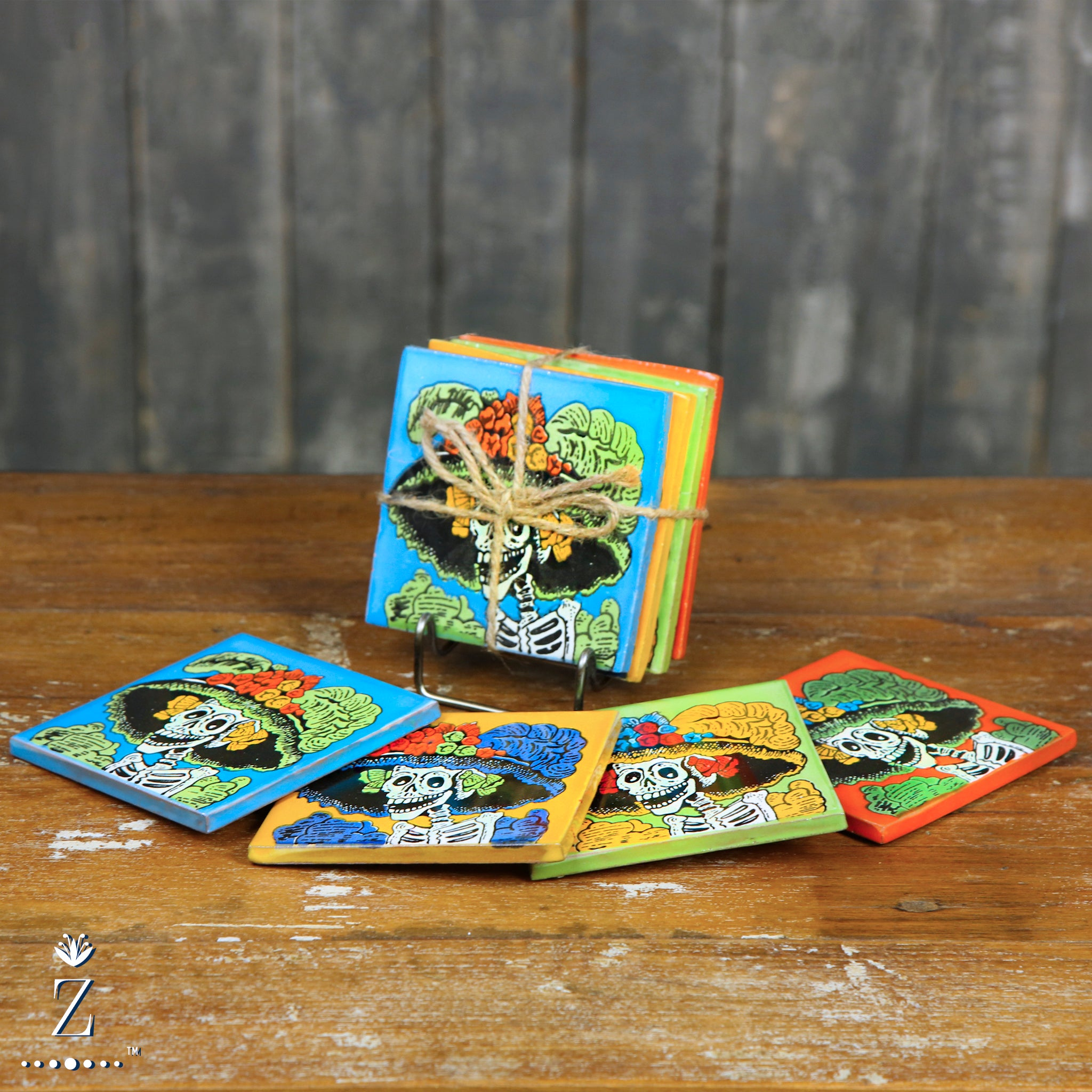 Ceramic Coaster set | Retro Catrina