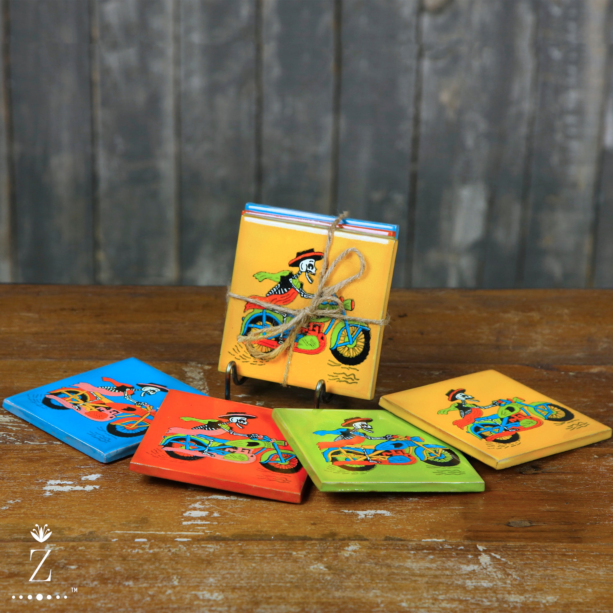 Ceramic Coaster set | Muerte Rider