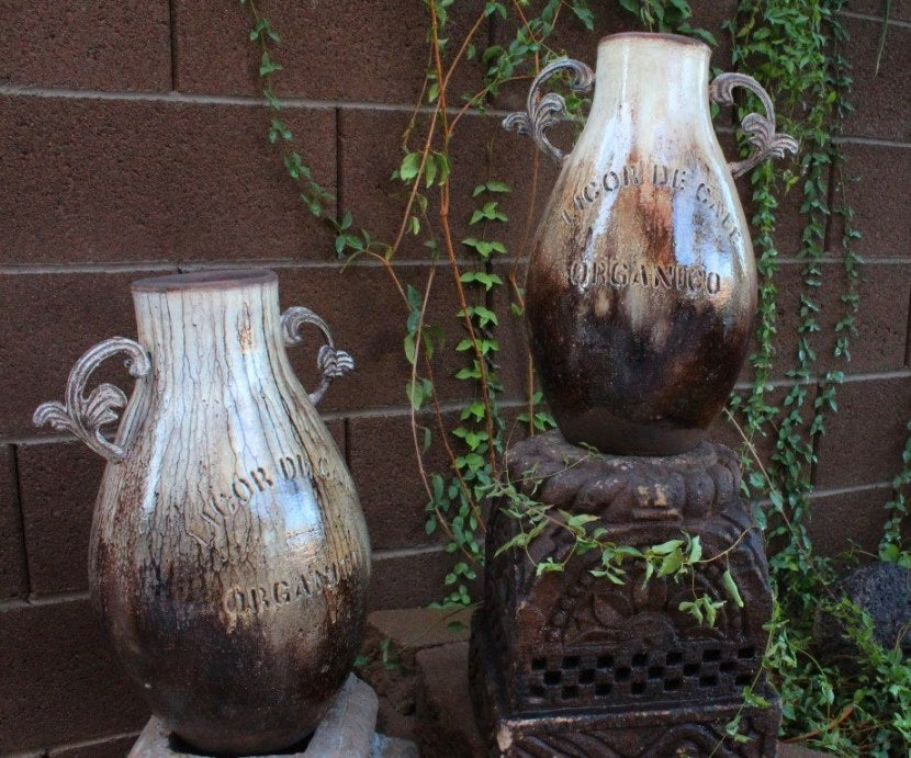 Organic Liquor ceramic Jugs | Set of 2