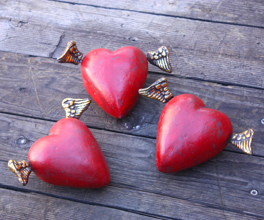 Devotion Angeles Heart, Red and Gold | Large