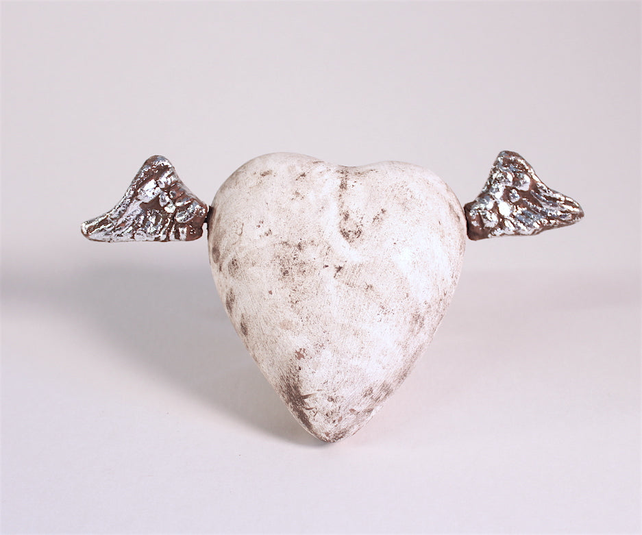Devotion Angeles Heart, White and Silver | Large
