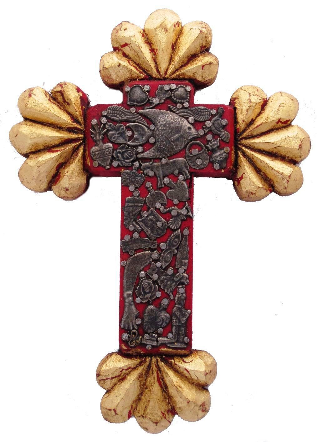 Gilded Milagros Cross | Large