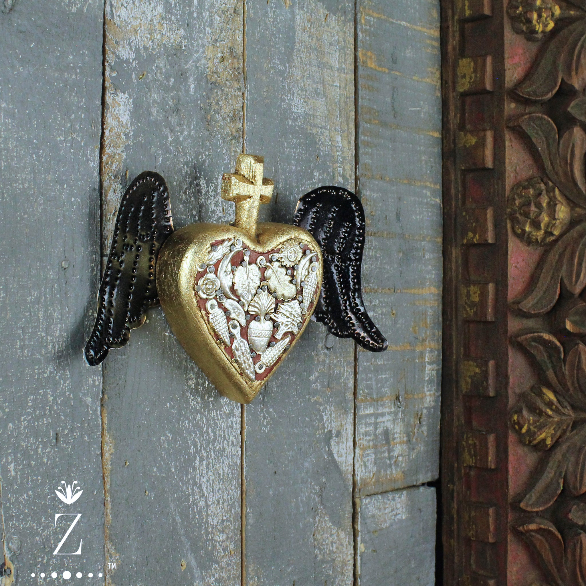 Sanctuary Heart with Tin Wings