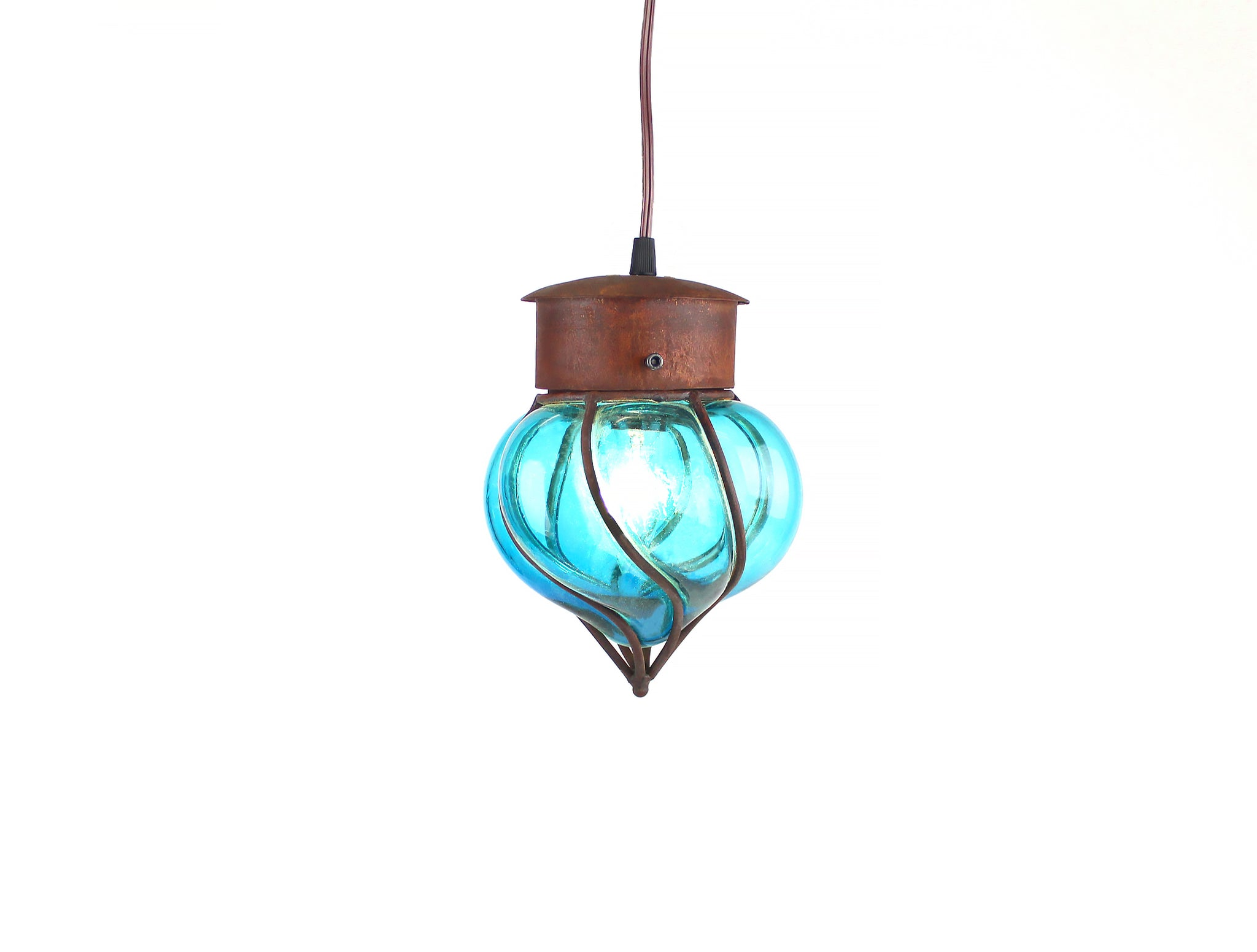 Flama Pendant Light, Mini | Aqua