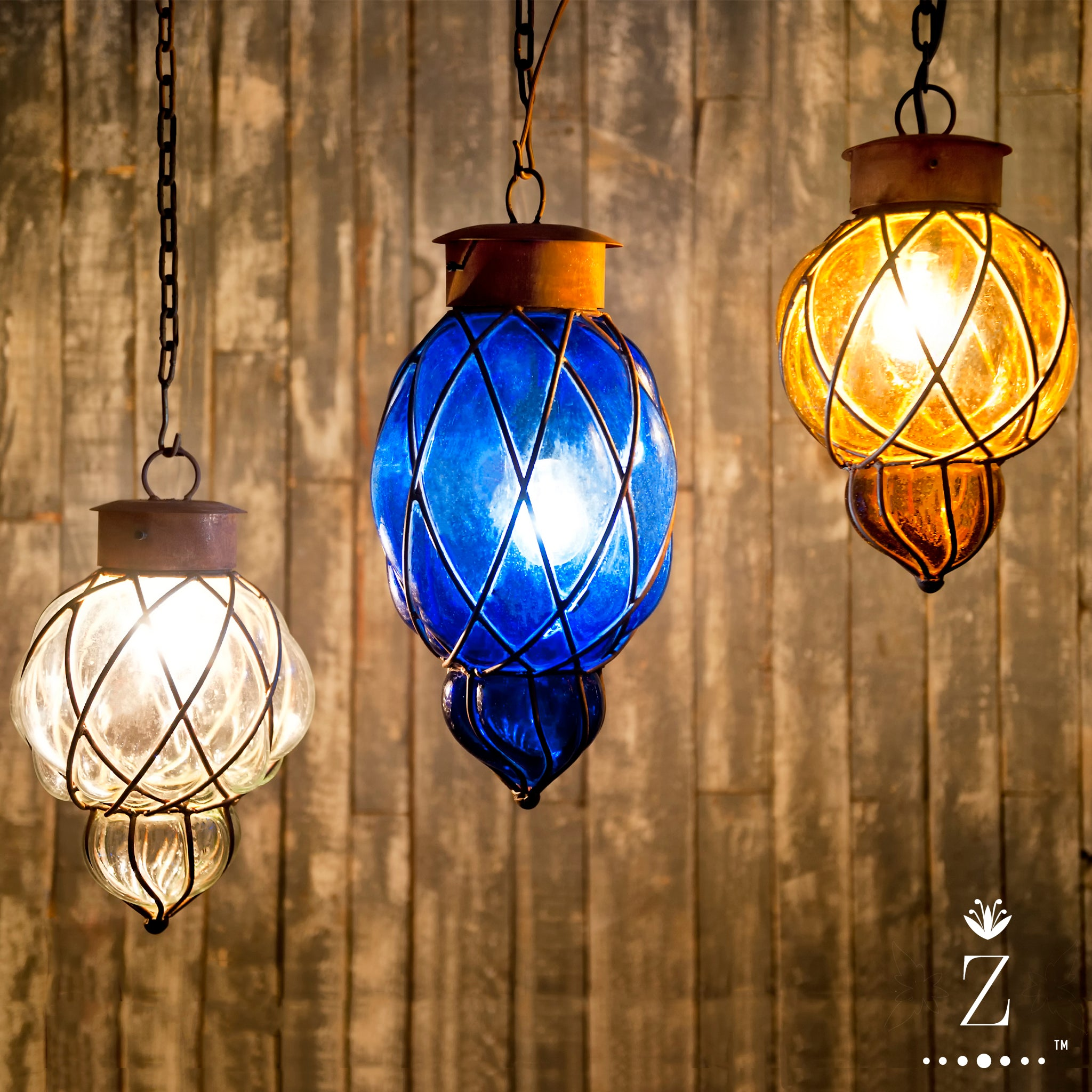 Piña Pendant Light | Small Cobalt