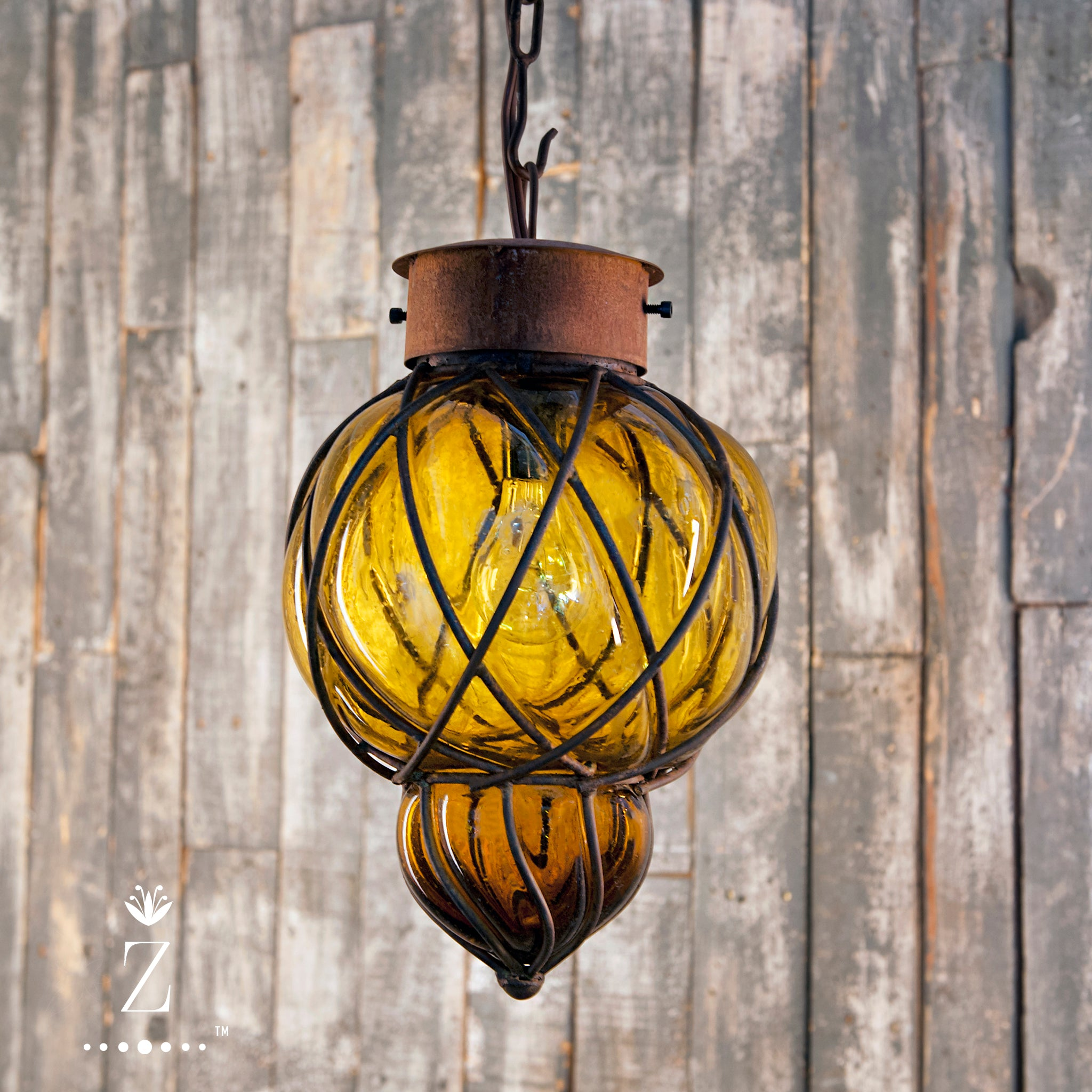 Piña Pendant Light | Small Amber