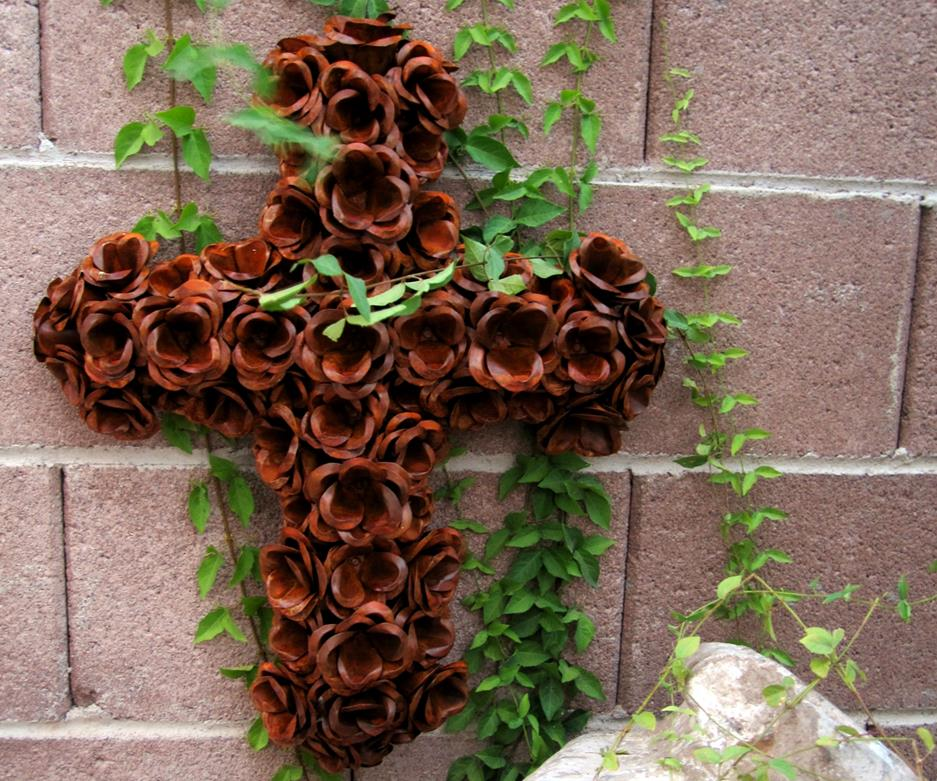 Rustic Rose Cross