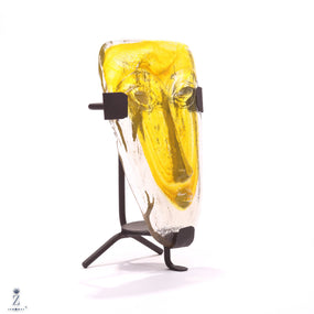 Indio Glass Face | Yellow