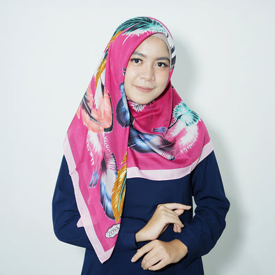 Alba Scarf Raspberry Rose