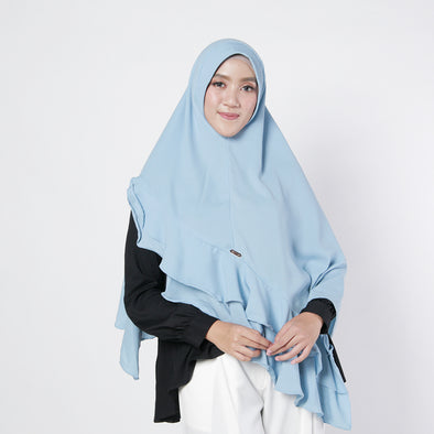 Aziza Khimar Powder Blue