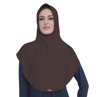 Bergo Husna Casual Dark Brown