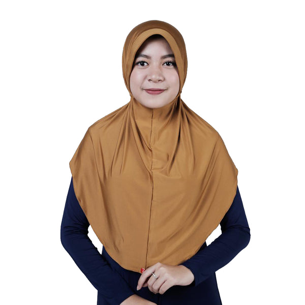 Bergo Husna Casual HeiQ Dark Gold