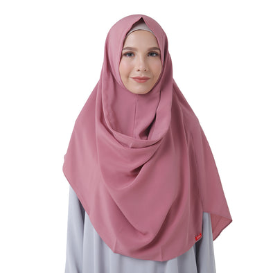 Felicia Smart Hijab Dusty Pink