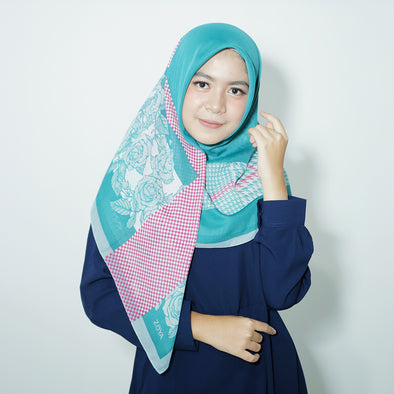 Galica Scarf Light Turquise Rose