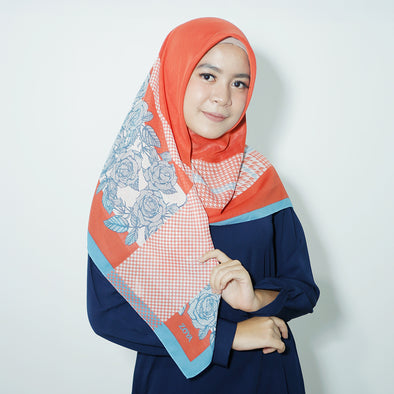 Galica Scarf Orange Oriental Blue