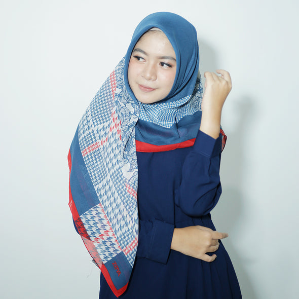 Galica Scarf Oriental Blue Red