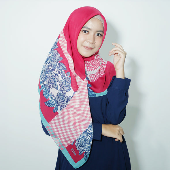 Galica Scarf Rose Light Turquise