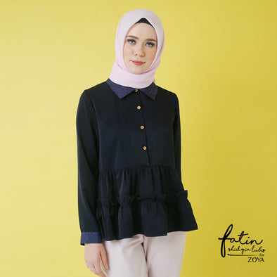 Helix Blouse Navy