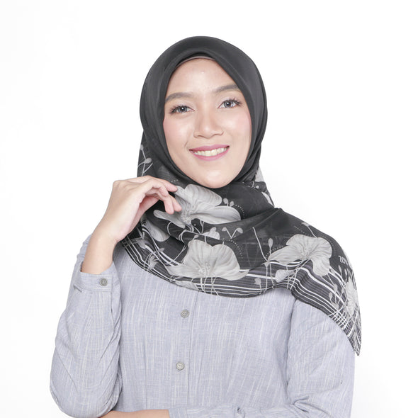 Louisa Scarf Black Grey