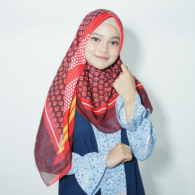 Moss Scarf Red