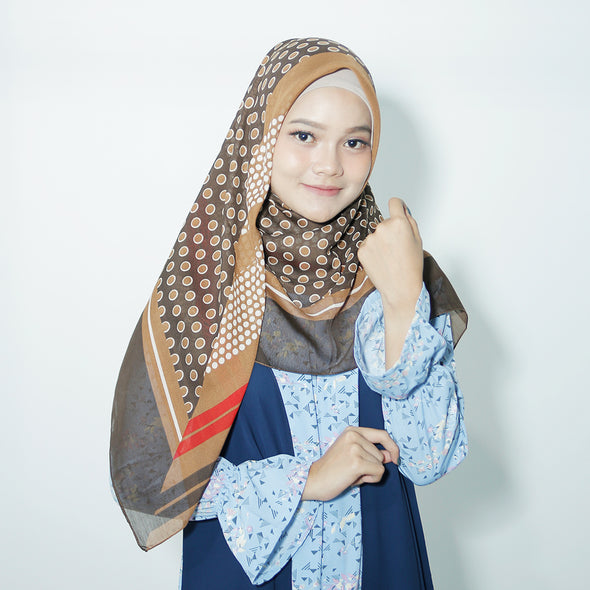 Moss Scarf Dark Brown