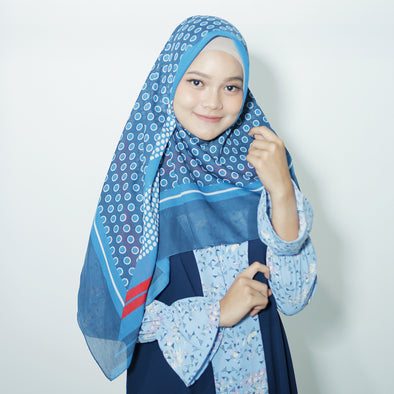 Moss Scarf Light Navy
