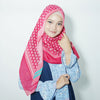 Moss Scarf Raspberry Rose