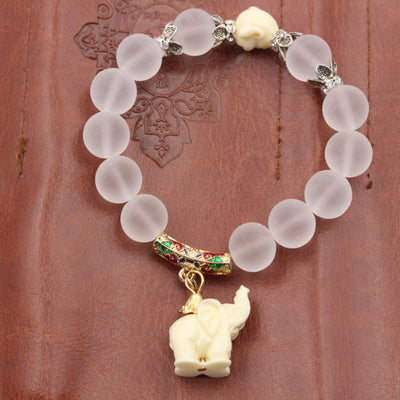 LUCKY ELEPHANT BEADED BRACELET- Limited Stock-