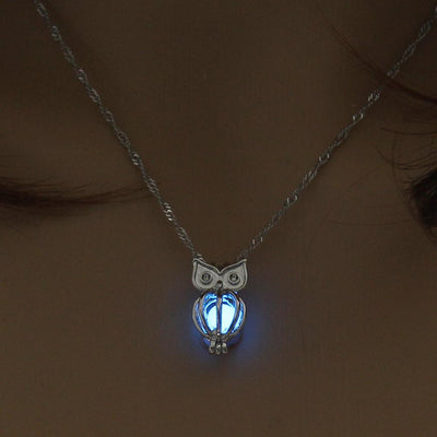 Glow In The Dark Owl Necklace (Free Shipping Today Only )