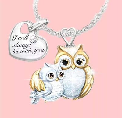 I will always be with you -Owl Necklace-