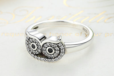 Silver Owl Ring  - Free Shipping