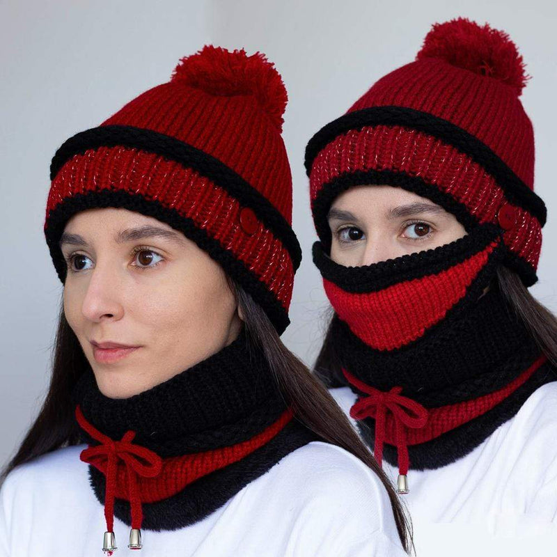 3-in-1 Beanie Scarf Mask Set (Launch Sale)
