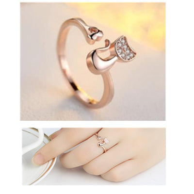 Charm Crystal Cat Ring for Women/Girls (FREE-SHIPPING)