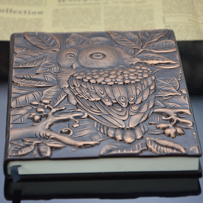 Handmade Owl Notebook - Free Shipping