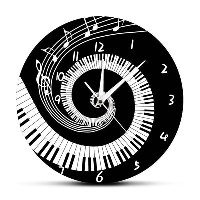 Piano Music Notes Wall Clock