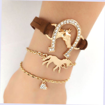 3 pcs/set  Leather  bracelets
