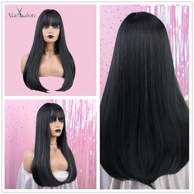 Long Wig with Bangs