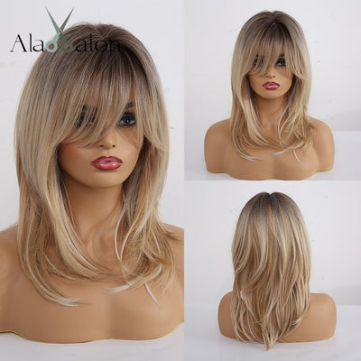 Medium wigs  with Bangs