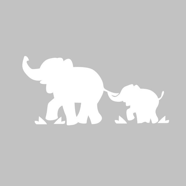 2020 New Hot Elephant Mom&Baby Car Sticker