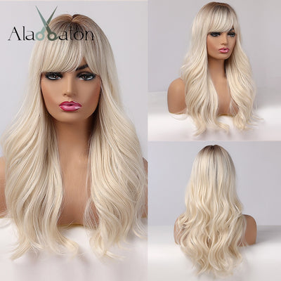Long Womens Wigs with Bangs