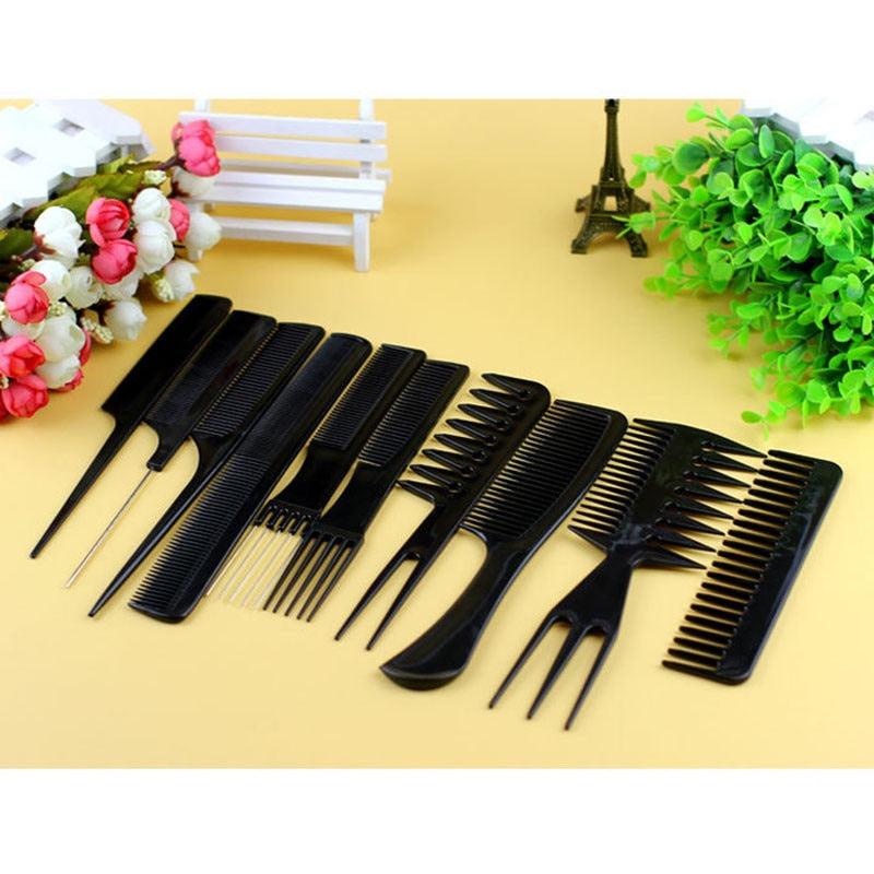 10 Pcs Hair Comb Brushes