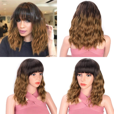 Natural Short Wave Wig