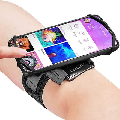Rotatable mobile phone arm bag