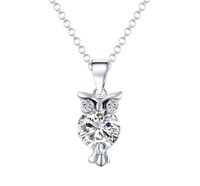 Owl Pendant Necklace  50% OFF -Free Shipping-
