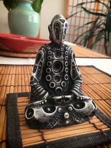 BUDDHA ELECTRIC MINI - Pewter Sculpture